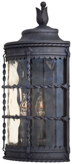 Mallorca 2 Light Outdoor Pendant In Spanish Iron Finish by Minka Lavery 8887-A39