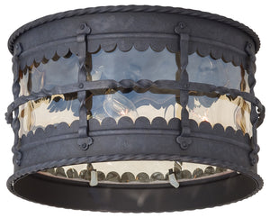 Mallorca 3 Light Outdoor Pendant In Spanish Iron Finish by Minka Lavery 8889-A39