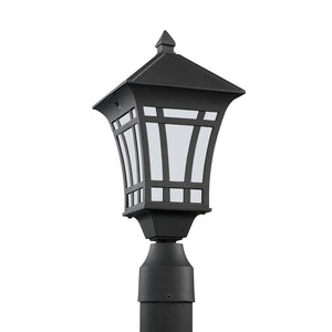 Herrington 1 Light Outdoor Lighting in Black Finish by Sea Gull 89231-12