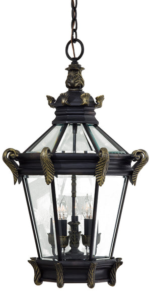 Stratford Hall 5 Light Outdoor Pendant In Heritage  Finish by Minka Lavery 8934-95