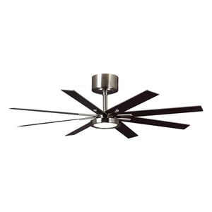 "Empire 60"" Brushed Steel Indoor Ceiling Fan by Monte Carlo Fans 8EER60BSD-V1"