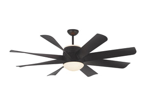 "Turbine Led 56"" Matte Black Indoor Ceiling Fan by Monte Carlo Fans 8TNR56BKD-V1"