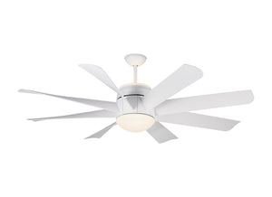 "Turbine Led 56"" Matte White Indoor Ceiling Fan by Monte Carlo Fans 8TNR56RZWD-V1"