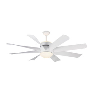 "Turbine 56"" Matte White Indoor Ceiling Fan by Monte Carlo Fans 8TNR56RZWD"