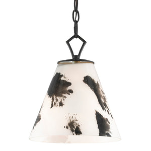 Peppard Pendant in Black/White by Currey and Company 9000-0577