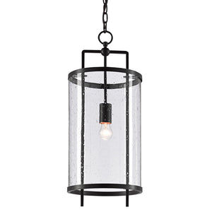 Chesten Pendant in Antique Black by Currey and Company 9000-0579