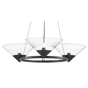 Maisonette Chandelier in Oil Rubbed Bronze by Currey and Company 9000-0583