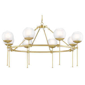 Montview Chandelier in Brushed Brass by Currey and Company 9000-0584