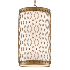 Rigadoone Chandelier in Painted Antique Brass by Currey and Company 9000-0590