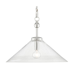 Brightman Pendant in Polished Nickel by Currey and Company 9000-0592