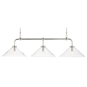 Brightman Chandelier in Polished Nickel by Currey and Company 9000-0593