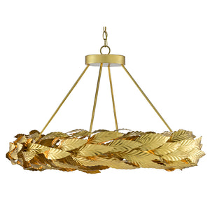 Apollo Small Chandelier in Contemporary Gold Leaf/Painted Gold by Currey and Company 9000-0594