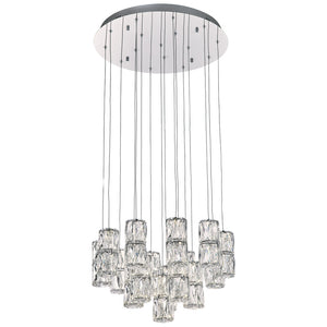 PLC Lighting 90103PC Miramar Collection 16 Light Pendant in Polished Chrome Finish
