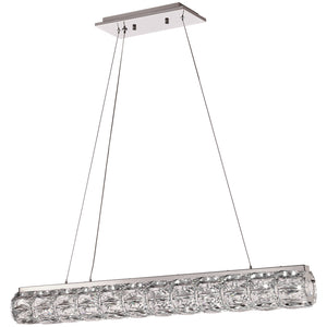 PLC Lighting 90106PC Miramar Collection  Light Pendant in Polished Chrome Finish