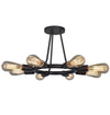 Crystorama 9043-CZ Dakota 8 Light Bronze Ceiling Mount
