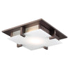 PLC Lighting 906ORBLED Polipo Collection 1 Light Ceiling Mount in Oil Rubbed Bronze Finish
