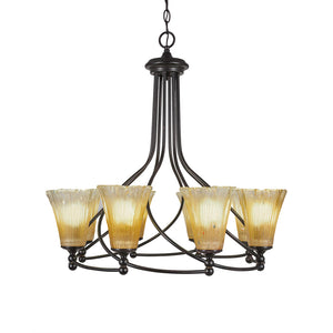 Toltec 908-DG-720 Chandeliers in Finish