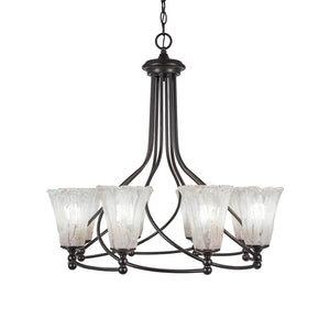 Toltec 908-DG-729 Chandeliers in Finish