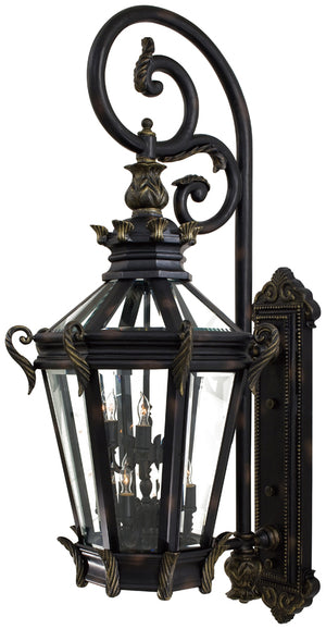 Stratford Hall 9 Light Outdoor Pendant In Heritage  Finish by Minka Lavery 9091-95