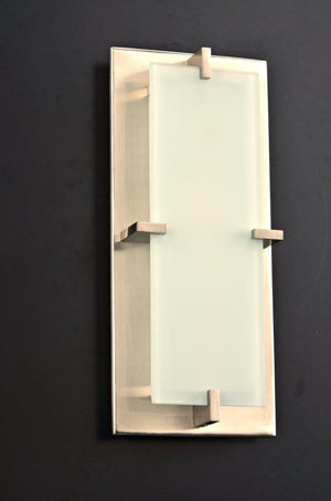 PLC Lighting 909 SN Polipo Collection 1 Light Sconce in Satin Nickel Finish