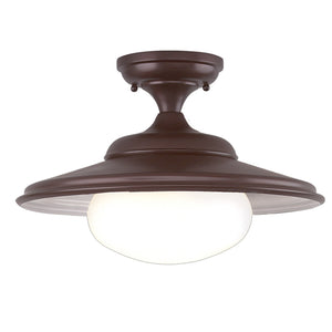 Independence 1 Light Semi Flush By Hudson Valley 9106-OB in Old Bronze Finish