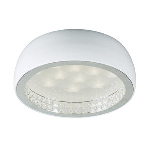 PLC Lighting 91108WH Briolette Collection 1 Light Ceiling Mount in White Finish