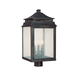 Capital Lighting Sutter Creek 9117OB 3 Light Post Lantern in Old Bronze