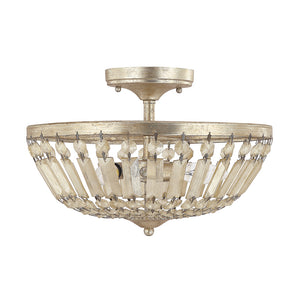 Capital Lighting Fifth Avenue 9173WG 3 Light Semi Flush Mount in Winter Gold