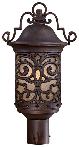 Chelesa Road 1 Light Outdoor Post Mount In Chelesa Bronze Finish by Minka Lavery 9195-189-PL