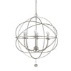 Crystorama 9226-OS Solaris 6 Light Silver Sphere Chandelier