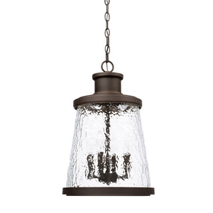 Capital Lighting Tory 926542OZ 4 Light Outdoor Hanging Lantern in Oiled Bronze
