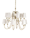 Orion Silver Large Chandelier by Currey and Company 9289