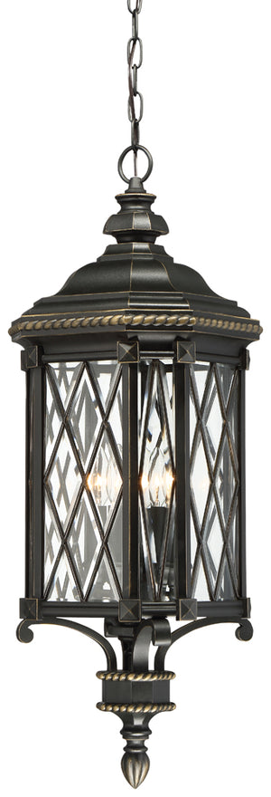 Bexley Manor 4 Light Outdoor Pendant In Black  Finish by Minka Lavery 9324-585