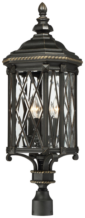 Bexley Manor 4 Light Outdoor Pendant In Black  Finish by Minka Lavery 9326-585