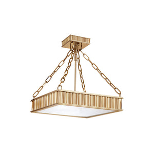 Middlebury 3 Light Semi Flush By Hudson Valley 933-AGB in Aged Brass Finish
