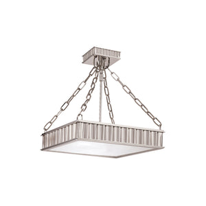 Middlebury 3 Light Semi Flush By Hudson Valley 933-PN in Polished Nickel Finish