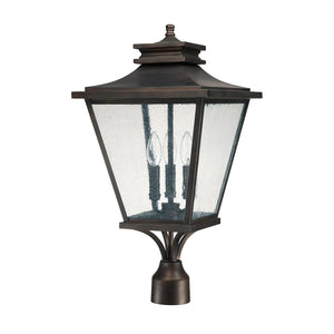 Capital Lighting Gentry 9466OB 3 Light Outdoor Post Lantern in Old Bronze