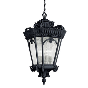 Tournai 4 Light Outdoor Hanging Pendant in Textured Black Finish by Kichler 9564BKT
