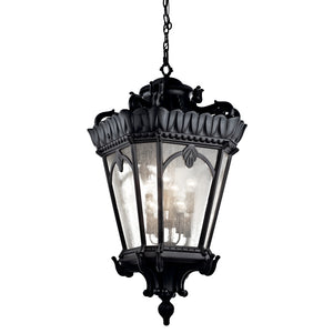 Tournai 8 Light Outdoor Hanging Pendant in Textured Black Finish by Kichler 9568BKT