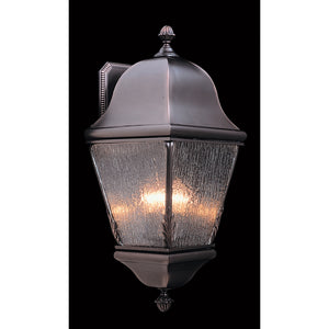 3 Light Iron Coeur De Lion Exterior Wall Mount by Framburg F-9590 IRON