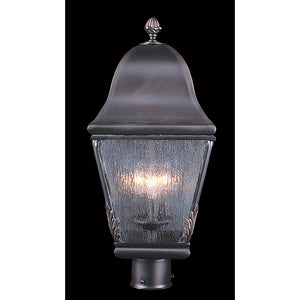3 Light Iron Coeur De Lion Exterior Post Mount by Framburg F-9591 IRON