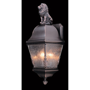 3 Light Iron Coeur De Lion Exterior Wall Mount by Framburg F-9605 IRON
