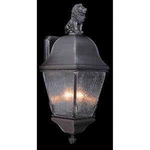 3 Light Iron Coeur De Lion Exterior Wall Mount by Framburg F-9610 IRON