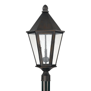 Capital Lighting Spencer 9625OB 3 Light Outdoor Post Lantern in Old Bronze
