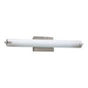 PLC Lighting 962SNLED Polipo Collection 3 Light Vanity in Satin Nickel Finish
