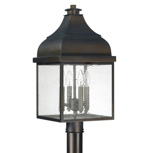 Capital Lighting Westridge 9645OB 4 Light Outdoor Post Lantern in Old Bronze