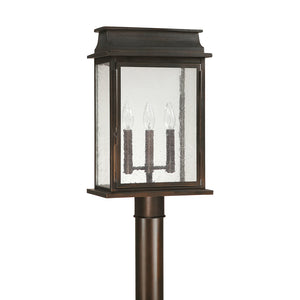 Capital Lighting Bolton 9665OB 3 Light Post Lantern in Old Bronze