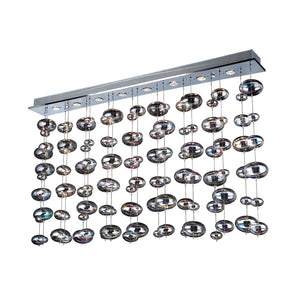 PLC Lighting 96957 PC Bubble Collection 4 Light Linear Light in Polished Chrome Finish