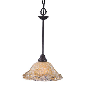 1 Light Mahogany Bronze Liebestraum Pendant by Framburg F-9720 MB