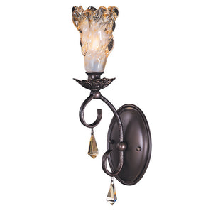 1 Light Mahogany Bronze Liebestraum Sconce by Framburg F-9721 MB